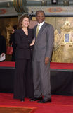 Sherry Lansing,Sidney Poitier Royalty Free Stock Images