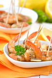Sherry prawns Stock Photos