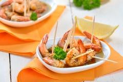 Sherry prawns Stock Images