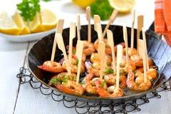 Sherry prawns Royalty Free Stock Images