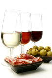 Sherry wine and tapas Stock Photo