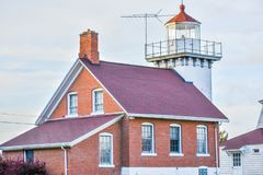 Free Sherwood Point Lighthouse, Door County, Wisconsin Royalty Free Stock Photo - 164601935