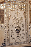Shesh Mahal Hall des miroirs palais ambre, Jaipur, Inde Image stock