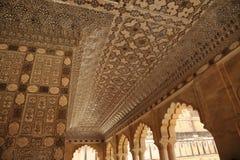 Shesh Mahal Pasillo de los espejos palacio ambarino, Jaipur, la India imagen de archivo libre de regalías