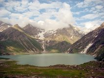 Sheshnag lake amarnath. Yatra 2008 royalty free stock photos