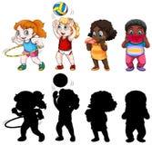 Shet of chubby children character