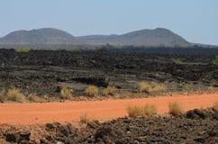 Shetani lava flow stock photo