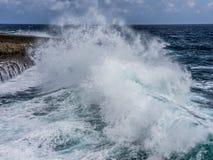 Shete Boka National Park crashing waves Royalty Free Stock Image