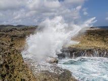 Shete Boka National Park crashing waves Stock Image