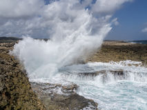 Shete Boka National Park crashing waves Stock Image