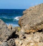Shete Boka National park - stones Royalty Free Stock Photos