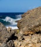 Shete Boka National park - stones Royalty Free Stock Photography