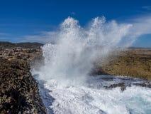 Shete Boka National park - waves Royalty Free Stock Photos
