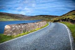 Shetland wyspy - piękna droga Zdjęcie Royalty Free