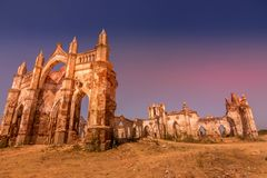 Shettyhalli church at hassan. At sunset view point old ancient building Royalty Free Stock Images