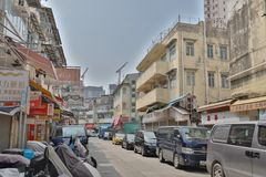 A Sheung Shui smuggler shops at HK. The area of north district  Sheung Shui Royalty Free Stock Photography