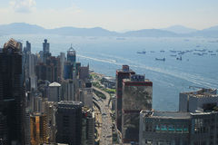 Sheung Wan of the cityscape at IFC Stock Images