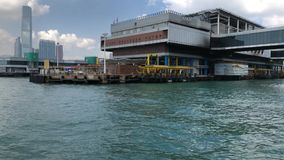 Hong Kong - Macau Ferry Terminal at Victoria Habour stock footage