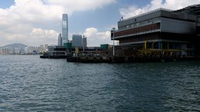 Hong Kong - Macau Ferry Terminal at Victoria Habour stock video footage