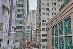 Sheung Wan and Sai Ying Pun  at day time. Sheung Wan  Sai Ying Pun  at day time Royalty Free Stock Photos