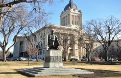 Shevchenko monument near Manitoba Legislative Building. Manitoba Legislative Building This photo was taken in Winnipeg City, Manitoba Province, Canada Stock Photography