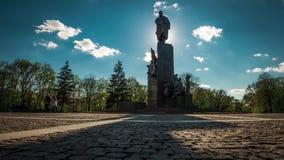 Shevchenko monument in the park named after Shevchenko in Kharkiv stock video