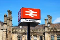 Shewsbury stacja kolejowa zdjęcie royalty free