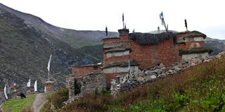 Shey Gompa - Ancient buddhist stupa Stock Photo