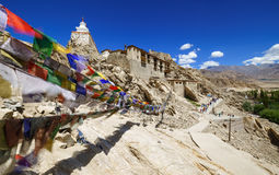 Shey slott, Leh, Ladakh, Jammu and Kashmir, Indien Fotografering för Bildbyråer