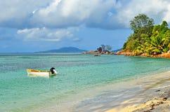 Sheychelles island, ocean shore Stock Photography