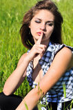 Shh Royalty Free Stock Photo