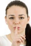 Shh.. Stock Image