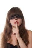 Shh. Geheimnis Stockfotografie