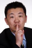 Shh! Quiet di conservazione immagine stock libera da diritti