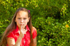Shh. secret (hushing) Royalty Free Stock Photos