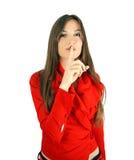 Shhh é um segredo Foto de Stock Royalty Free