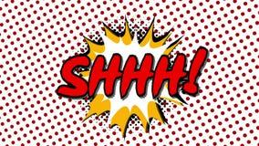 SHHH - сформулируйте анимацию стиля воздушных шаров речи шуточную бесплатная иллюстрация