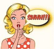 Shhh burbuja stock de ilustración