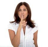 Shhh - Geheimnis Stockfotos