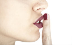 Shhh Stock Images