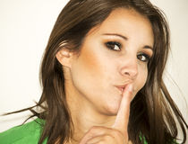 Shhh Stock Image