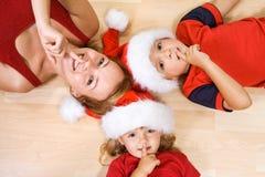 Shhh, Santa está vindo?. Fotos de Stock