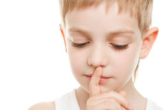 Shhh sign Royalty Free Stock Photography