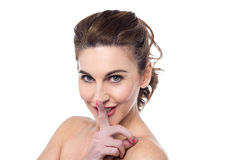 Shhh, silence please ! Royalty Free Stock Photography