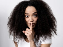 Shhh... silence please! Stock Images