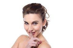 Shhh, silence svp ! Photographie stock libre de droits