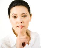 Shhhh Fotografia Stock Libera da Diritti