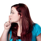 SHHHH Be Quiet! Royalty Free Stock Photo