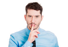 Shhhh Royalty Free Stock Photo