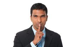 Shhhh? Houd stilte Stock Afbeelding